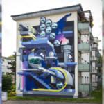 Neues Fassadenkunstwerk mit Augmented Reality in der Zeppelinstraße