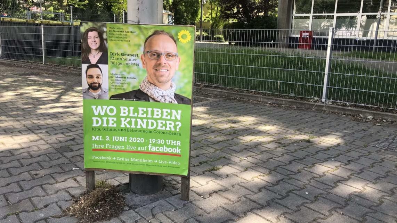 Werbeplakat für die Online-Veranstaltung mit dem Grünen Bildungsbürgermeister Dirk Grunert | Foto: M. Schülke