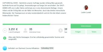 Teamparcours Crowdfunding | Screenshot: StartNext