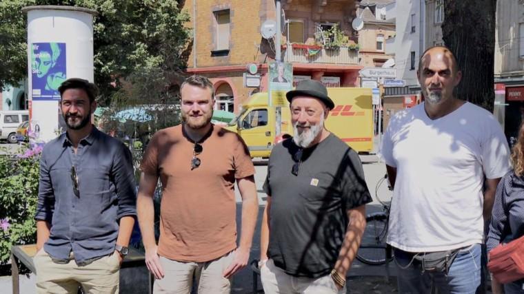 Die Köpfe hinter der Westwind-Konzeption: v.l. Marcel Hauptenbuchner (Thor-Gruppe), Florian Fischer (Concrete Coffee Roasters), Markus Sprengler (Stadtrat Grüne), Maik Rügemer (Netzwerk Wohnumfeld) | Foto: M. Schülke