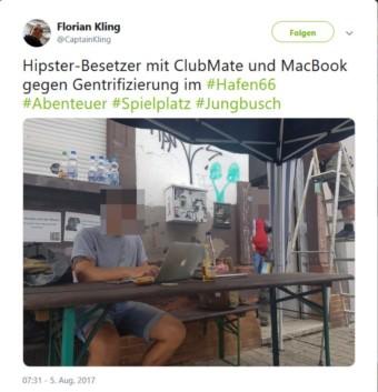 20170805 florian kling hipster hafen66 twitter 340x353 - Bürgerbeteiligung bei Kiosk nicht eingeplant