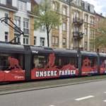 Unfall zwischen einem Schulbus und einerStraßenbahn