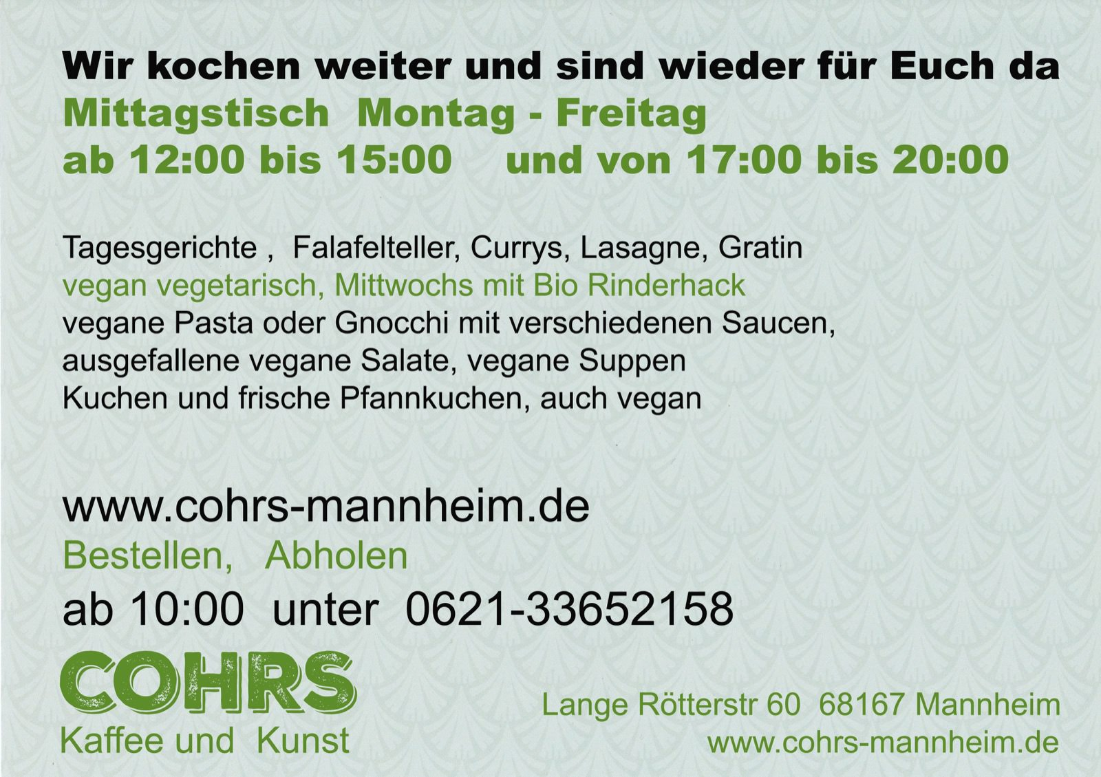 Cohrs - Essen bestellen und abholen