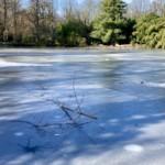 Gefährlich und Verboten: Betreten von gefrorenen Wasserflächen