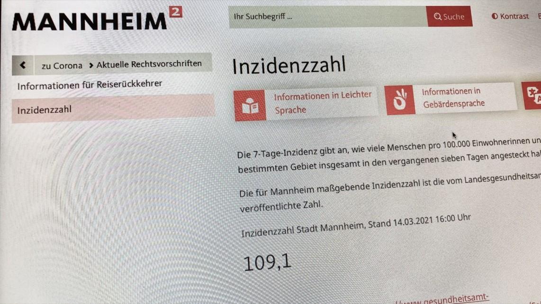 """inzidenz 2021 03 14 img 7088 1142x642 - Inzidenz bleibt hoch: Mannheim zieht ab Dienstag die Corona-""""Notbremse"""""""