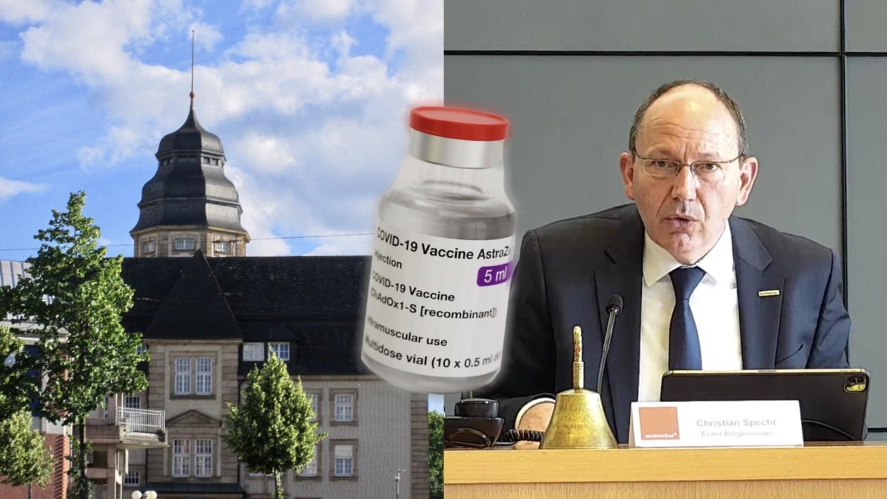 In der Alten Feuerwache werden 3000 Impfdosen des Herstellers AstraZeneca bereitstehen | Bildmontage: Neckarstadtblog